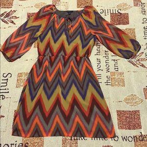 Banana Republic New Chevron Chiffon Boho Dress 6